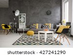 stylish spacious living room... | Shutterstock . vector #427241290