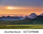 mountains of alaska in summer | Shutterstock . vector #427249888