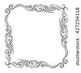 vector geometric frame.... | Shutterstock .eps vector #427254118