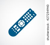 remote control blue flat icon... | Shutterstock .eps vector #427254940
