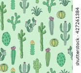 cactus and succulents vector... | Shutterstock .eps vector #427261384