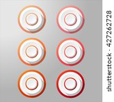 loudspeaker buttons with... | Shutterstock .eps vector #427262728