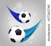 flying soccer ball shot with... | Shutterstock .eps vector #427262740