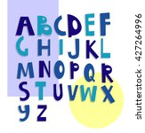 latin alphabet. vector set of ... | Shutterstock .eps vector #427264996