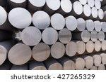 stack of aluminium billets | Shutterstock . vector #427265329