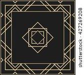 vector geometric frame in art... | Shutterstock .eps vector #427269208