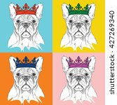 Portrait Of Dog With The Crown...