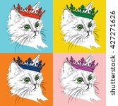 Portrait Of Cat With The Crown...