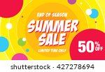 summer sale template banner | Shutterstock .eps vector #427278694