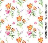 summertime seamless watercolor... | Shutterstock . vector #427280650