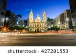 candelaria church at dusk in... | Shutterstock . vector #427281553