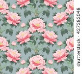 seamless background with peony... | Shutterstock .eps vector #427282048