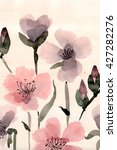 cute floral background.... | Shutterstock . vector #427282276