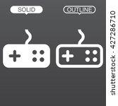 joystick line icon  outline...