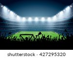 excited crowd of people at a... | Shutterstock .eps vector #427295320