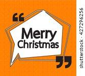 merry christmas lettering... | Shutterstock .eps vector #427296256