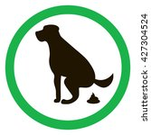 dog pooping sign silhouette.... | Shutterstock .eps vector #427304524