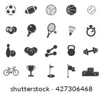 sports set icons. flat vector... | Shutterstock .eps vector #427306468