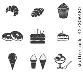 pastry set icon. flat vector... | Shutterstock .eps vector #427306480