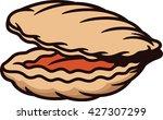clam cartoon | Shutterstock .eps vector #427307299