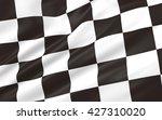 3d illustration of race flag | Shutterstock . vector #427310020