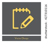 pictograph of note | Shutterstock .eps vector #427310116