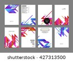 abstract background. geometric... | Shutterstock .eps vector #427313500