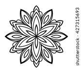 ornamental round doodle flower... | Shutterstock .eps vector #427315693