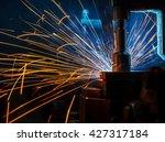 the welding robots represent... | Shutterstock . vector #427317184