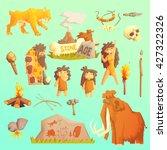 life stone age primitive man... | Shutterstock .eps vector #427322326