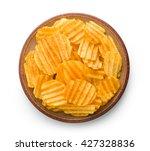 crinkle cut potato chips... | Shutterstock . vector #427328836