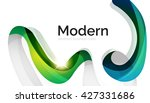 swirl shape colorful line.... | Shutterstock .eps vector #427331686