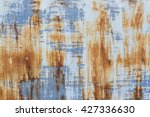 corroded white metal background.... | Shutterstock . vector #427336630