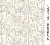 floral seamless pattern can be... | Shutterstock .eps vector #427338274