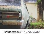 Behind A Vintage And Retro Car  ...