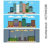 industrial  business city and... | Shutterstock . vector #427340188