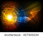 abstract futuristic digital... | Shutterstock .eps vector #427343224