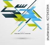 geometric vector background.... | Shutterstock .eps vector #427343344