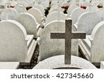crosses on the graves of the... | Shutterstock . vector #427345660