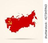 map of soviet union in soviet... | Shutterstock .eps vector #427345963