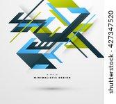 geometric vector background.... | Shutterstock .eps vector #427347520