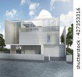 3d rendering nice modern house... | Shutterstock . vector #427353316