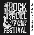 hand drawn rock festival poster.... | Shutterstock .eps vector #427354924