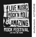 Hand Drawn Rock Festival Poste...