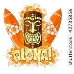 vector illustration of orange... | Shutterstock .eps vector #42735856