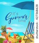 it's summer time vector... | Shutterstock .eps vector #427368628