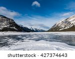 Snow Covered Mountain Scenery...