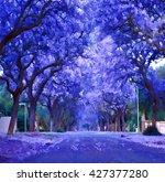 Digital Illustration   Purple...