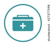 first aid kit icon ui vector...