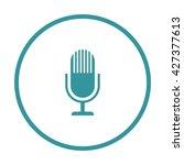 microphone icon ui vector eps...